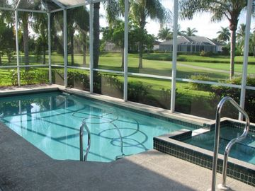 Fort Myers Beach villa rental - Relax in the pool or hot tub