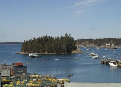 View of Rasberry Island from back deck