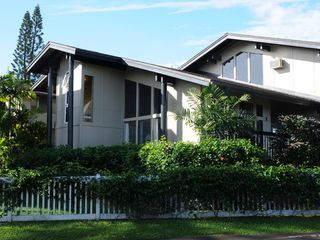 Princeville condo photo - View of our townhome from the back yard, a spacious lanai is on the right side