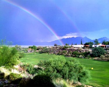 Look .. a Rainbow...Golf Range View from Patio!