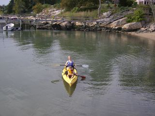 Branford bungalow photo - All ages love to paddle from our double ocean kayak