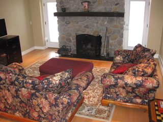 Williamstown house photo - Spacious ground-level suite also boasts fireplace and flat-screen TV