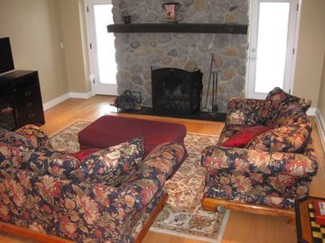 Spacious ground-level suite also boasts fireplace and flat-screen TV