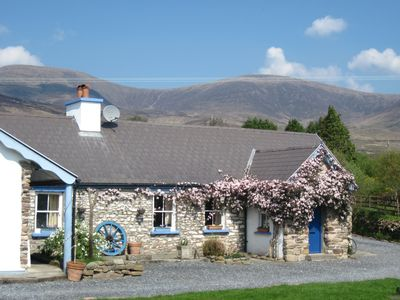 River Cottage with mountains behind