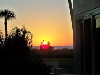 Admiralty House condo rental - Watch the sunset from the private patio