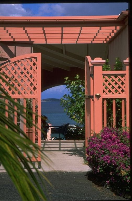 A glimpse through the Front Gate to the Caribbean, one of manybreath water views