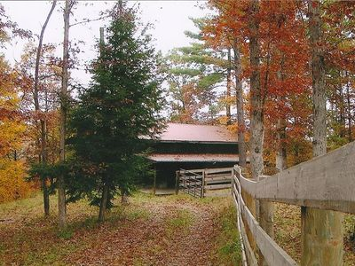 Cabin driveway  backing up to National Parks: Big South Fork  & Dan Boone N. Par