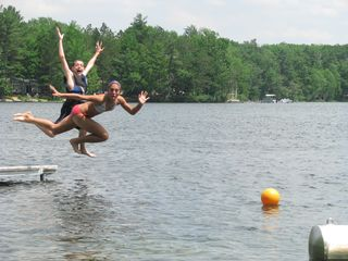 Interlochen cottage photo - Have fun jumping in the Lake