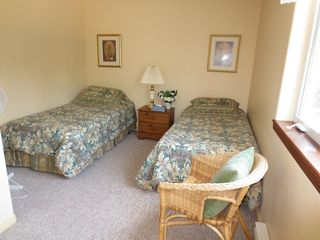 Mont Tremblant townhome photo - The Guest Room; these beds are on wheels, and can easily be brought together