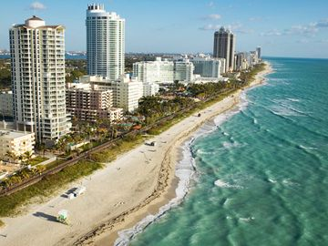 Aerial View of Nearby Miami Beach, Florida