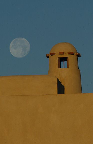 Moon rise over chimney