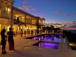 Providenciales - Provo villa photo - The lights in the pool are stunning, along with the sunset