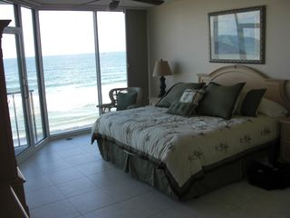 New Smyrna Beach condo photo - Large Master BR with walk-in closet and ocean view