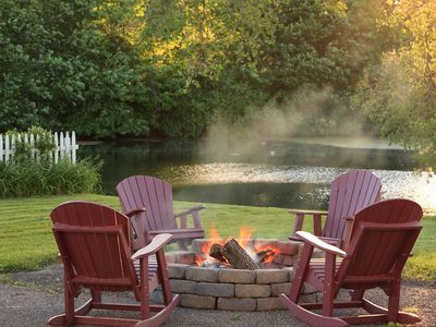 the firepit, much enjoyed by our guests!