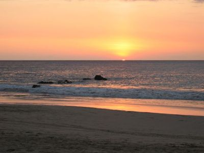Relax and enjoy the beautitful sunsets just 7/10 of a mile from our Condo