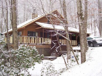 "It Snows About 1-to-2 Days A Year Here At ""My Cabin In The Mountains"" On Average"