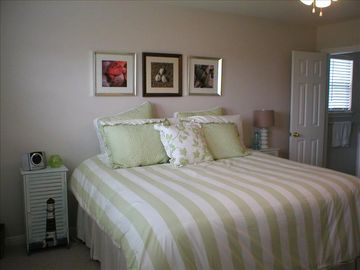 Master bedroom has new king bed & private full bath & room for twin air mattress