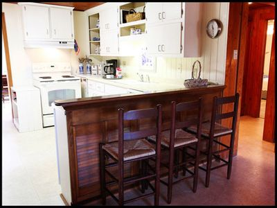 Kitchen with Additional Seating at Breakfast Bar