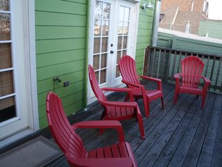 San Francisco apartment photo - The deck off of the dining room in the back of the apartment-South facing.