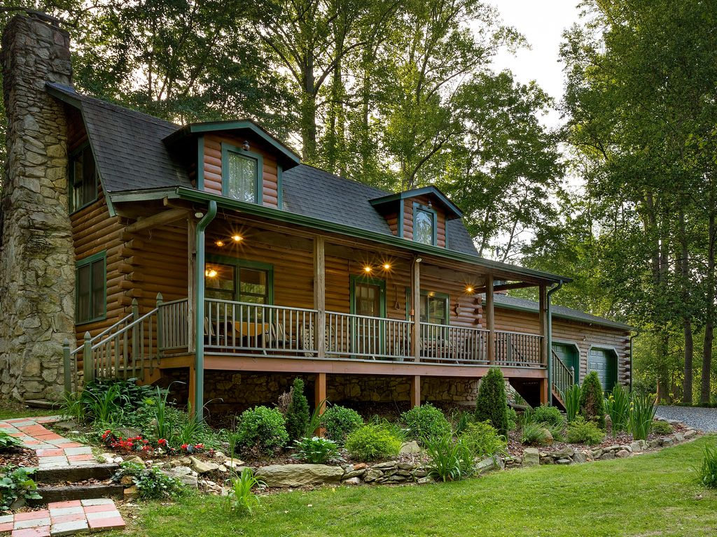 Log Cabin In Idyllic Setting Private And Vrbo