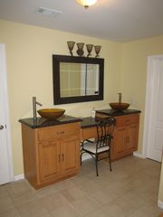 Conyers house photo - Master Bathroom with Jacuzzi tub, dual vaniity sinks and seperate shower.