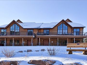 Deadwood townhome rental - Stagecoach Properties: 'The Dancing Bear' and 'The Legend' after light snow fall