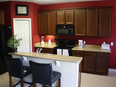 Fully equipped and stylish kitchen.