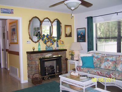 Living Room displaying electric fireplace
