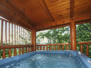 Pigeon Forge cabin photo - Jacuzzi with room for 6 and views of Wears Valley