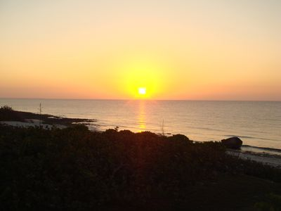 the perfect cayman brac sunset from your balcony or the beach