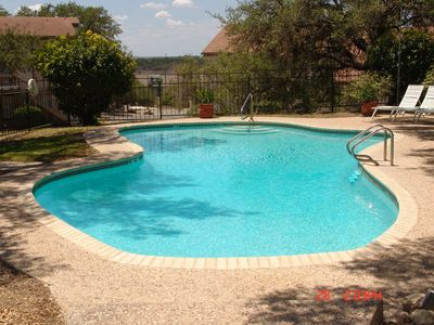 Canyon Lake condo rental - Pool (Next to our building)