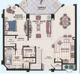 Silver Beach Towers Resort condo photo - First Floor Layout
