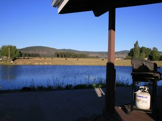 Klamath Falls cabin photo - Enjoy a BBQ while you enjoy the view.