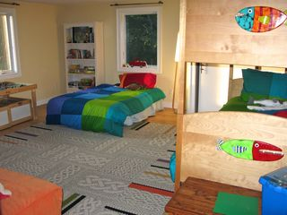 Wellfleet house photo - The large kids room is full of color & sleeps five - lots of windows and A/C too