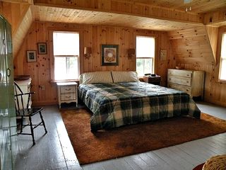 Hanover cottage photo - Spacious master bedroom, king bed, full bath