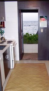 Kitchen Door opens up  to Beach