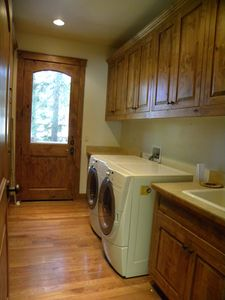 Full laundry room in Incline Cabin.