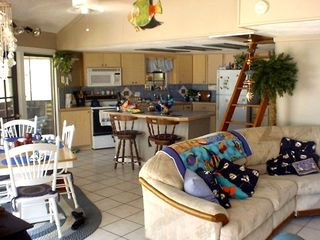 Alligator Point house rental - Inside Home, Kitchen/dining and Living Room