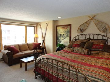 Village at Breckenridge studio rental - Luxury King Sized Bed and Queen Sized Sofa Sleeper with 7 inch mattress