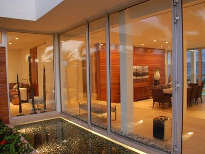 Anguilla villa rental - Entryway reflection pool