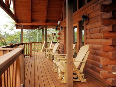 Two Spacious Decks with Rockers and Swings