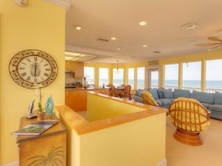 "Summer Haven house photo - 3rd floor living room with 50"" HDTV & ocean views."