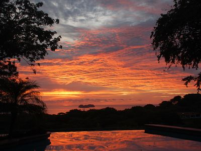 Typical Sunset from the Casa's Pool