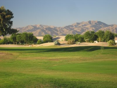 View from nearby golf course