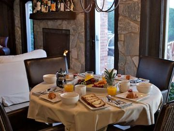 Breakfast delivered daily from The Mill House Inn.