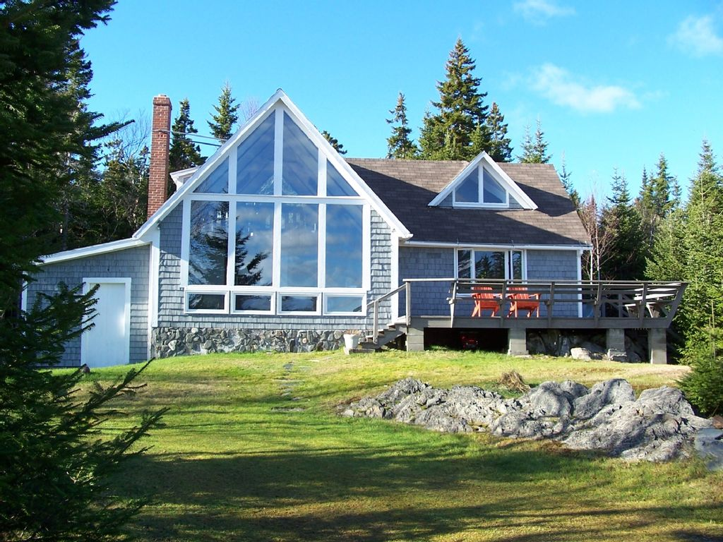 Down east bold coast oceanfront chalet style for Chalet homes