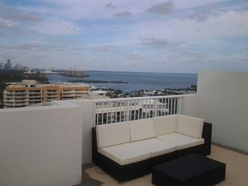 And enjoy breathtaking views in complete privacy on 700 sq ft rooftop deck!!