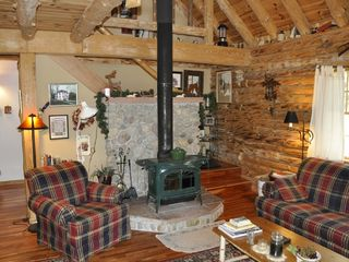 Allen Falls Flow cabin photo - Great Room with Wood Stove