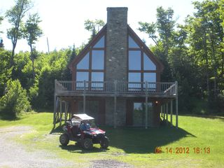 Pittsburg chalet photo - Camp Serenity - w/snowmobile/atv drive thru garage, Direct Trail Access.