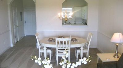 Dining room with cathedral ceilings - Taken 4/11